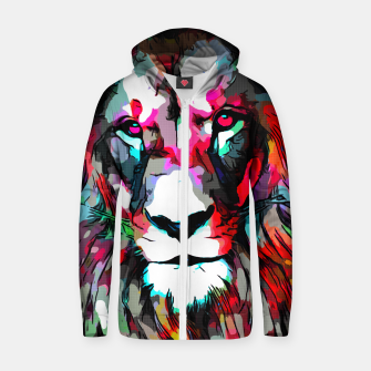 Thumbnail image of LION Zip up hoodie, Live Heroes