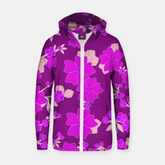 Thumbnail image of FLORAL DESIGN 39 Zip up hoodie, Live Heroes