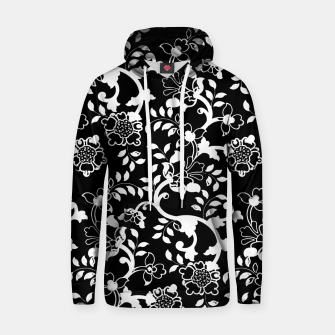 Thumbnail image of FLORAL DESIGN 9-BLACK AND WHITE Hoodie, Live Heroes