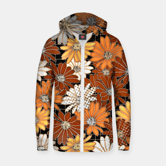 Thumbnail image of FLORAL DESIGN 27 Zip up hoodie, Live Heroes