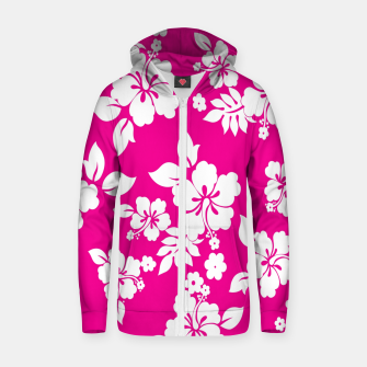 Thumbnail image of FLORAL DESIGN 65 Zip up hoodie, Live Heroes