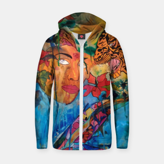 Thumbnail image of fara nume Zip up hoodie, Live Heroes