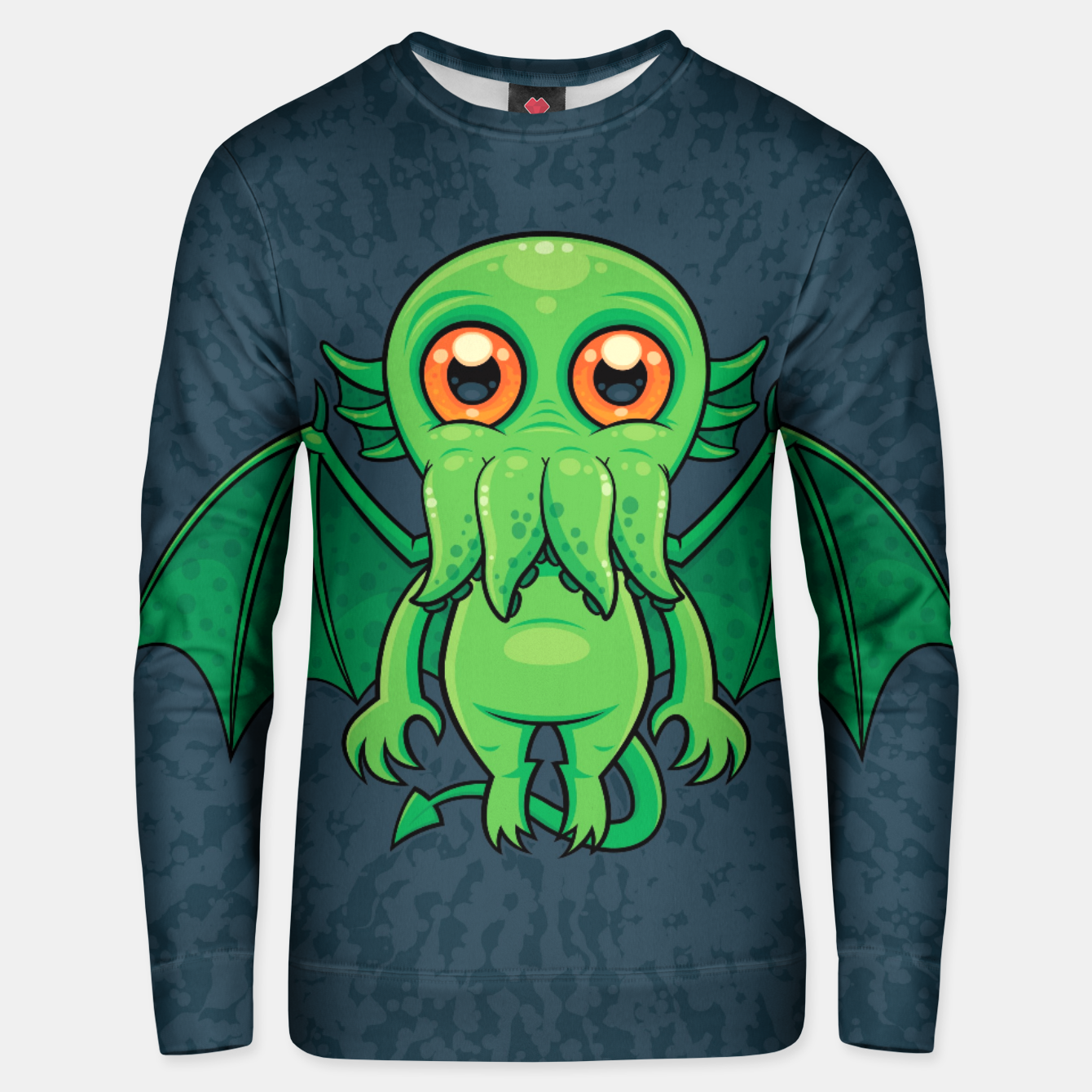 Image of Cute Green Cthulhu Monster Unisex sweater - Live Heroes