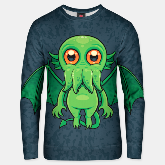 Thumbnail image of Cute Green Cthulhu Monster Unisex sweater, Live Heroes