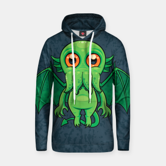 Thumbnail image of Cute Green Cthulhu Monster Hoodie, Live Heroes