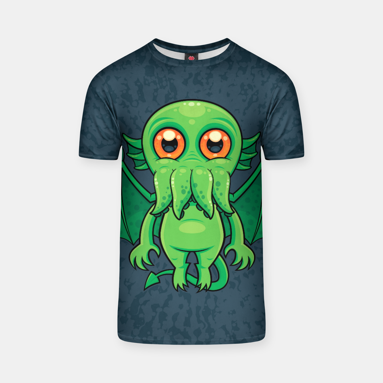 Image of Cute Green Cthulhu Monster T-shirt - Live Heroes