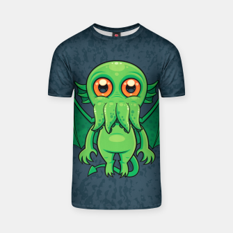 Thumbnail image of Cute Green Cthulhu Monster T-shirt, Live Heroes