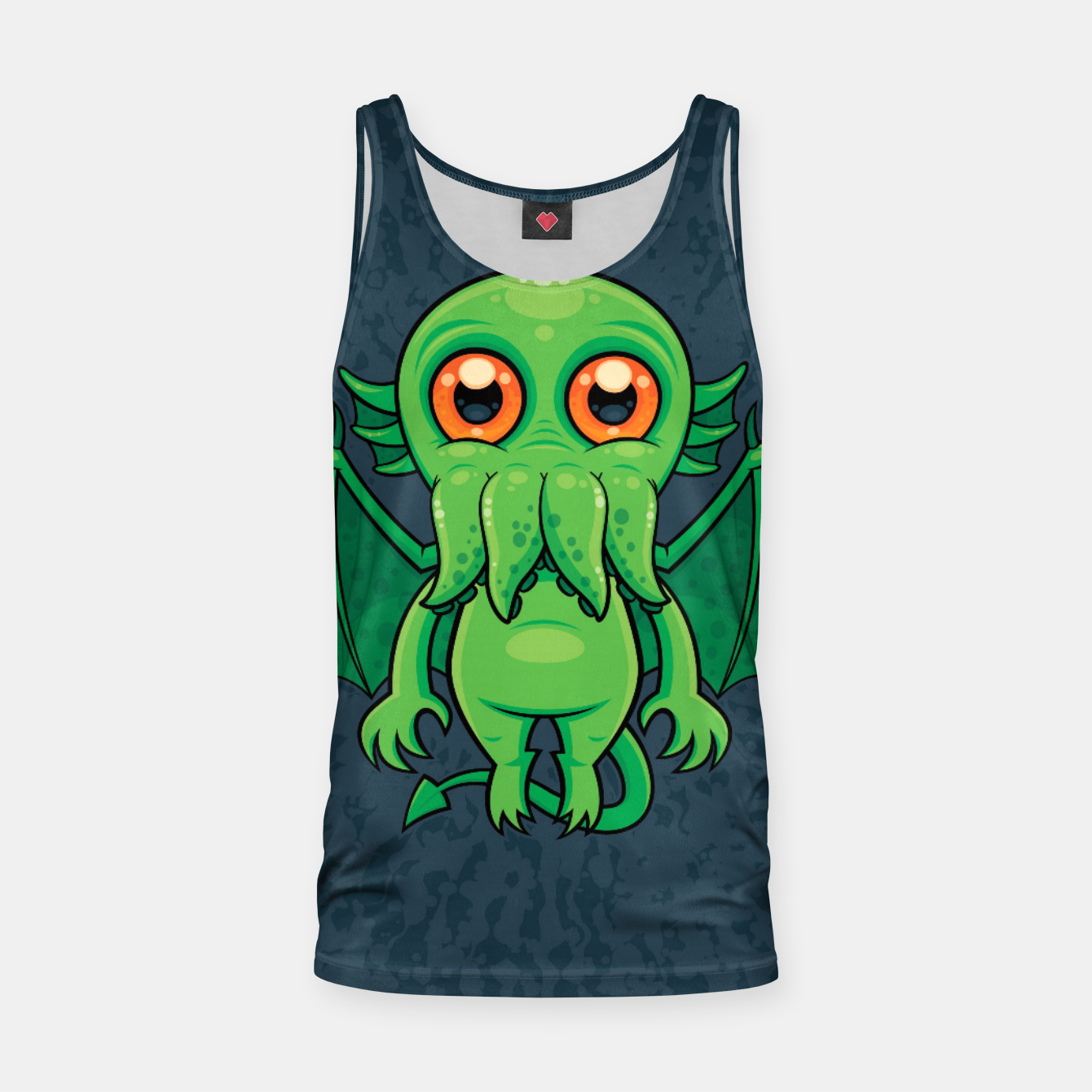 Image of Cute Green Cthulhu Monster Tank Top - Live Heroes