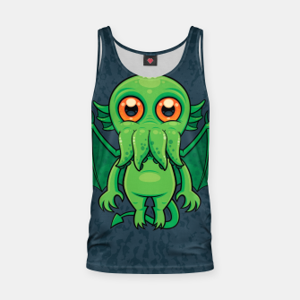 Thumbnail image of Cute Green Cthulhu Monster Tank Top, Live Heroes