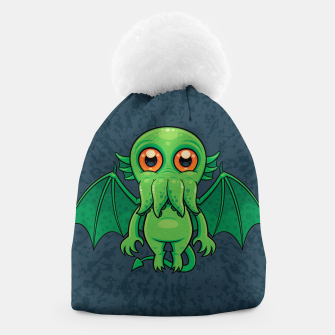 Thumbnail image of Cute Green Cthulhu Monster Beanie, Live Heroes
