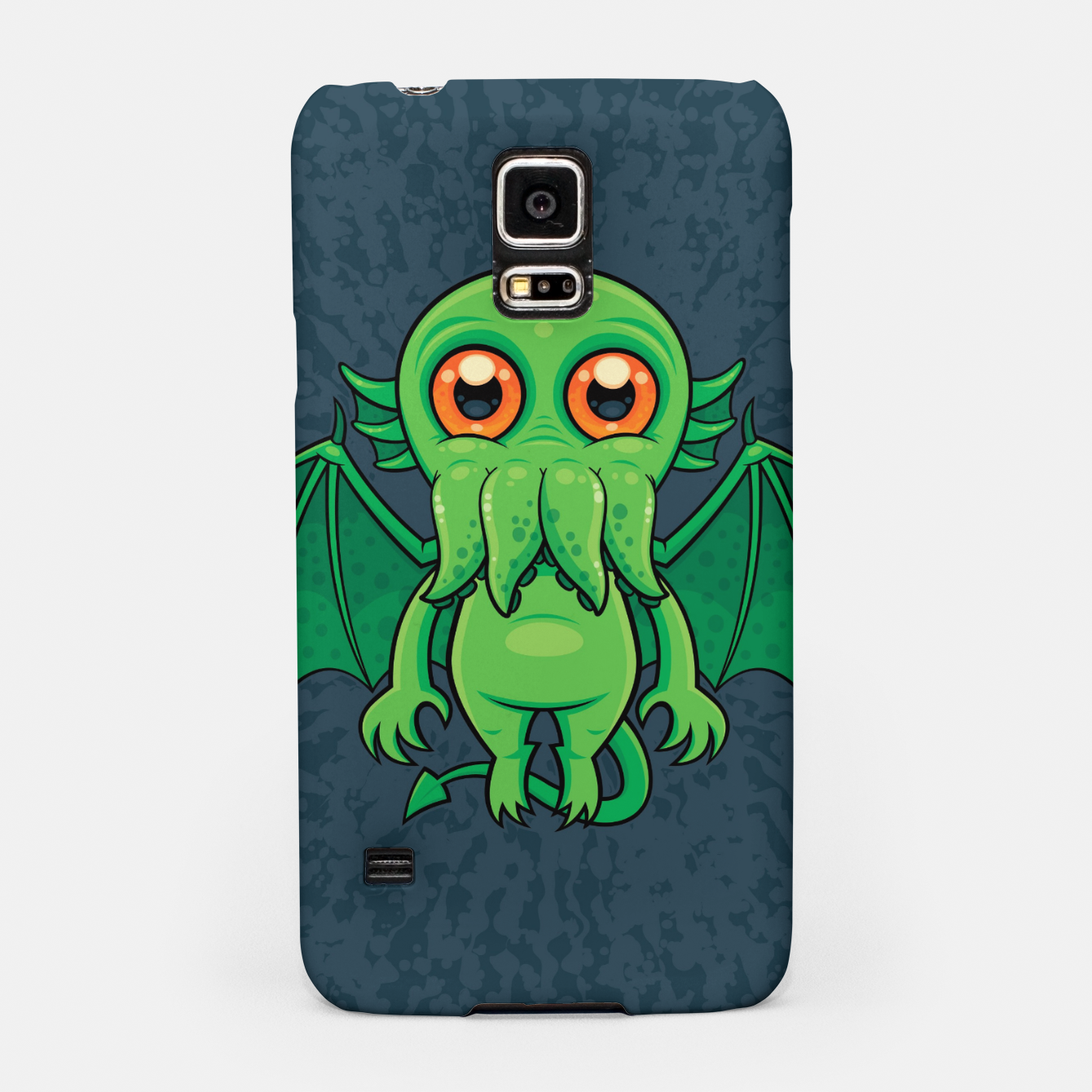 Image of Cute Green Cthulhu Monster Samsung Case - Live Heroes