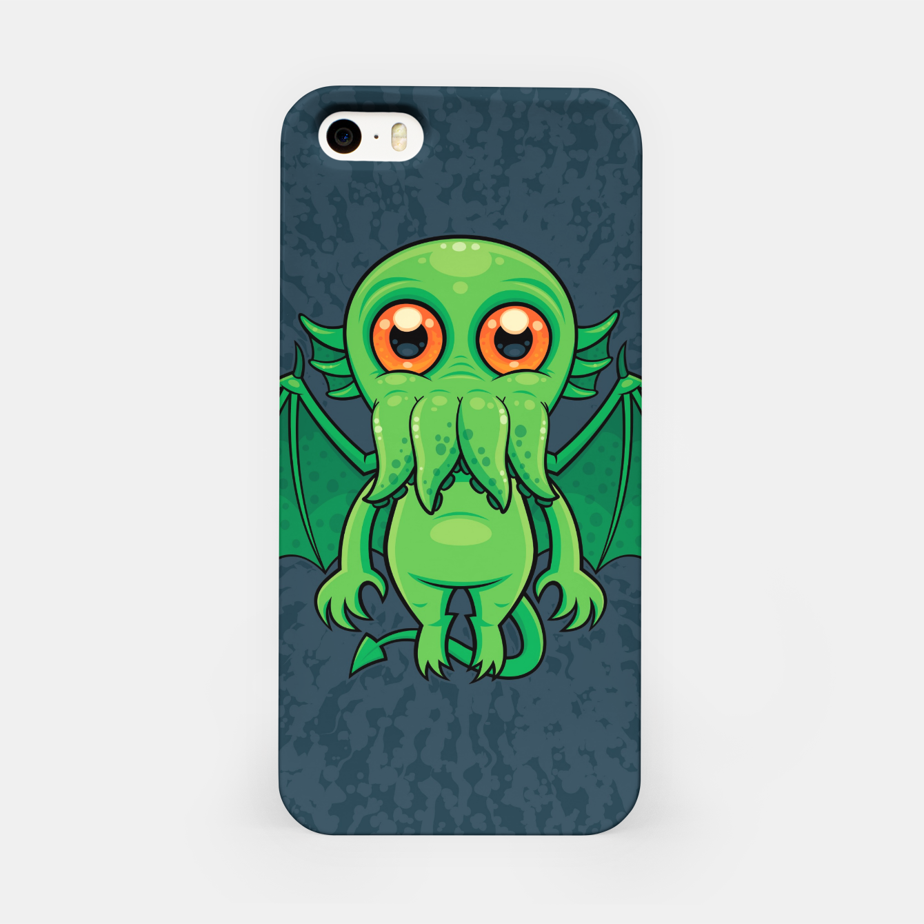 Image of Cute Green Cthulhu Monster iPhone Case - Live Heroes