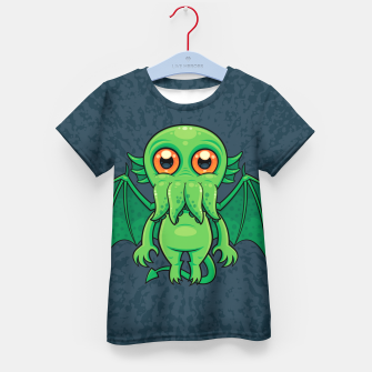 Thumbnail image of Cute Green Cthulhu Monster Kid's t-shirt, Live Heroes