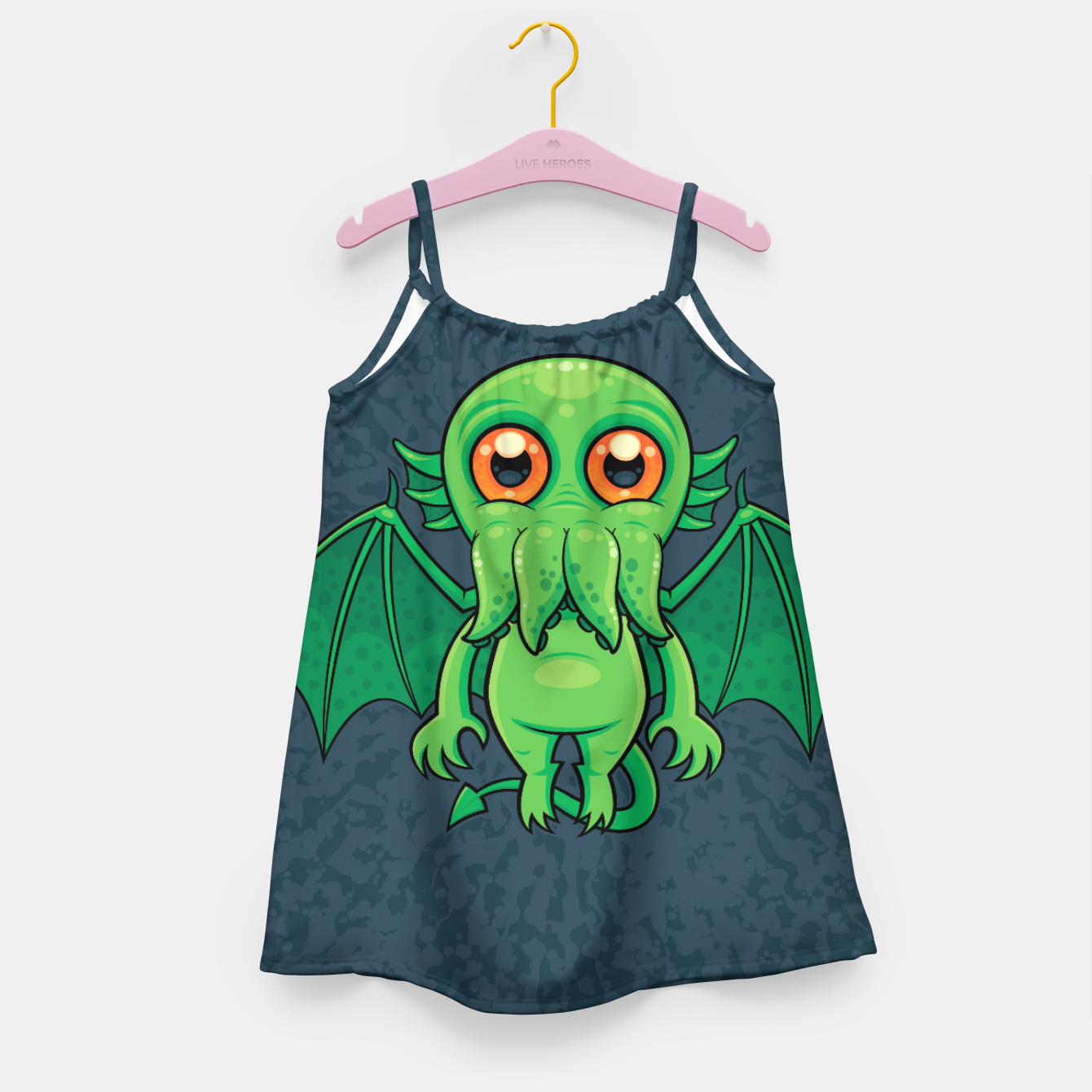 Image of Cute Green Cthulhu Monster Girl's dress - Live Heroes