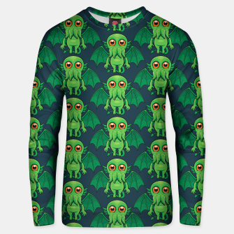Thumbnail image of Cute Green Cthulhu Monster Pattern Unisex sweater, Live Heroes