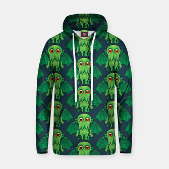 Thumbnail image of Cute Green Cthulhu Monster Pattern Hoodie, Live Heroes