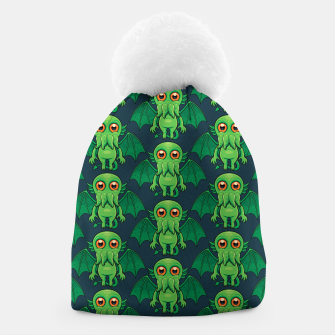 Thumbnail image of Cute Green Cthulhu Monster Pattern Beanie, Live Heroes