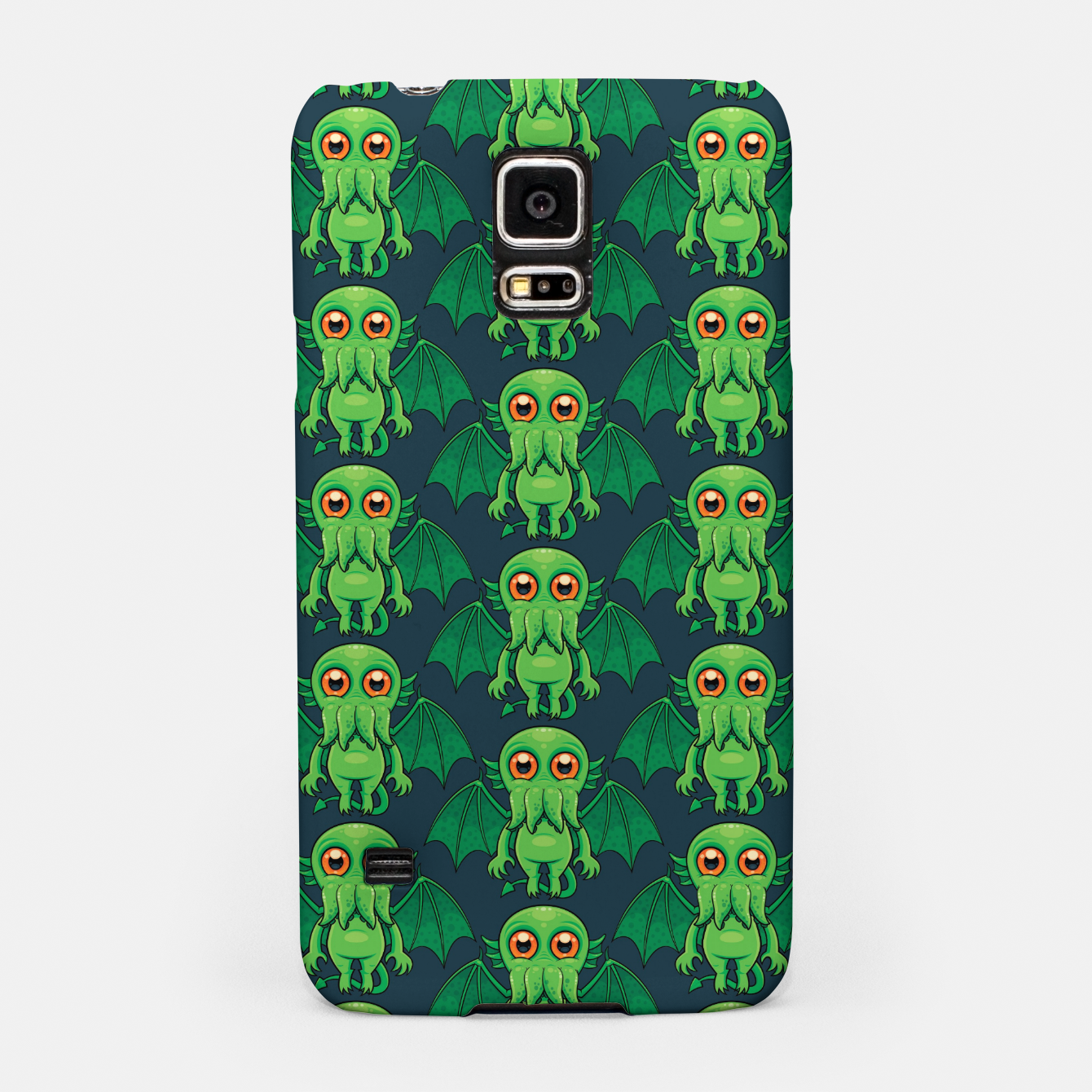 Image of Cute Green Cthulhu Monster Pattern Samsung Case - Live Heroes