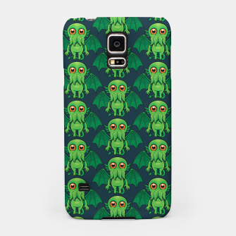 Thumbnail image of Cute Green Cthulhu Monster Pattern Samsung Case, Live Heroes