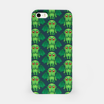Thumbnail image of Cute Green Cthulhu Monster Pattern iPhone Case, Live Heroes