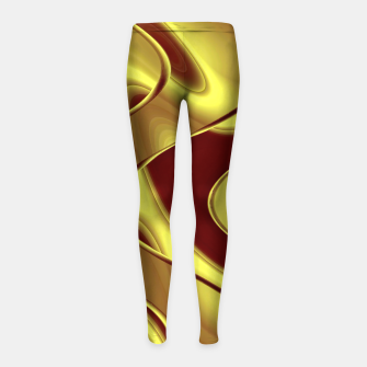 Thumbnail image of Golden waves Leggings para niña, Live Heroes