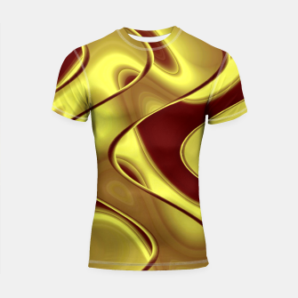 Thumbnail image of Golden waves Shortsleeve rashguard, Live Heroes
