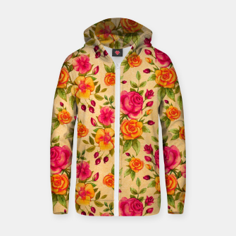 Thumbnail image of FLORAL DESIGN 13 Zip up hoodie, Live Heroes