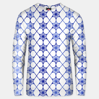 Thumbnail image of Blue And White Stars Unisex sweater, Live Heroes
