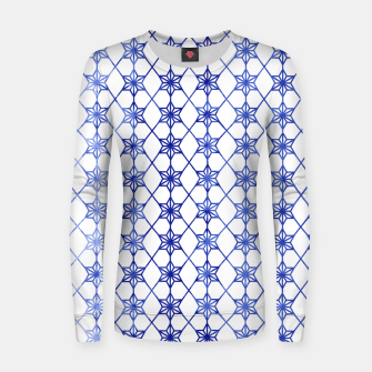 Thumbnail image of Blue And White Stars Women sweater, Live Heroes