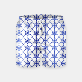 Thumbnail image of Blue And White Stars Swim Shorts, Live Heroes