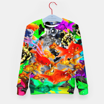 Thumbnail image of crazy dreamin' 3 Kid's sweater, Live Heroes