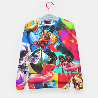 Thumbnail image of crazy dreamin' 2 Kid's sweater, Live Heroes