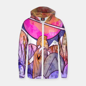 Thumbnail image of Greek of Venus Zip up hoodie, Live Heroes