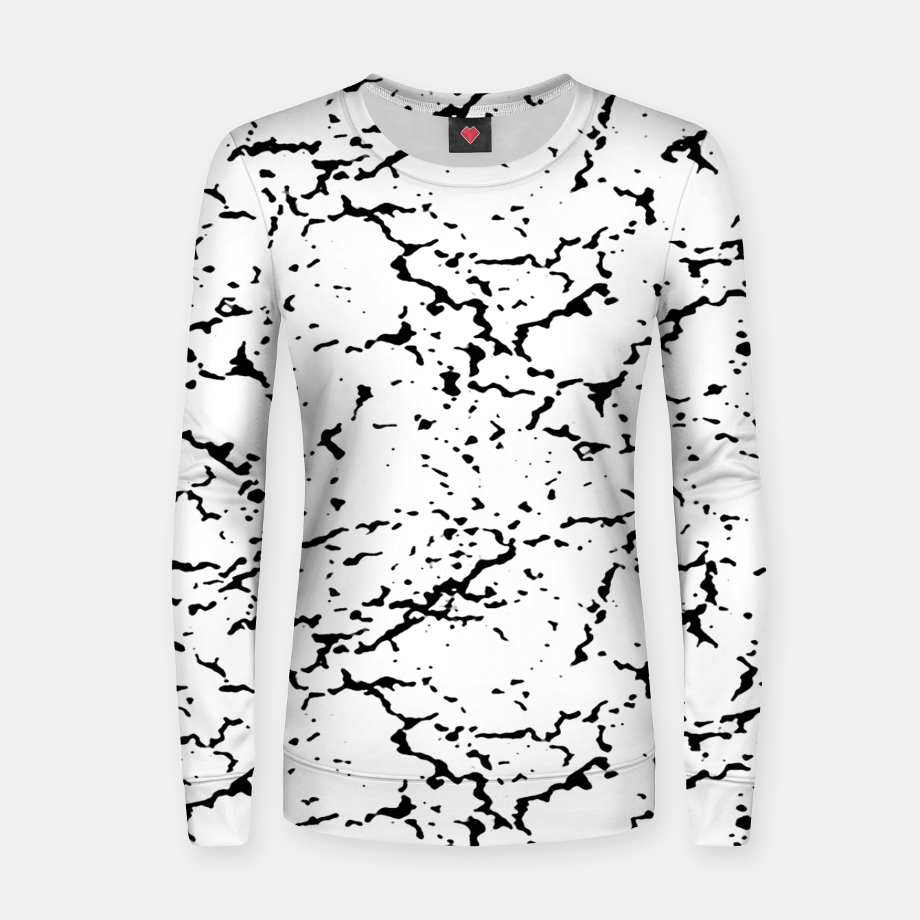 Image of Black and White Grunge Abstract Print Women sweater - Live Heroes