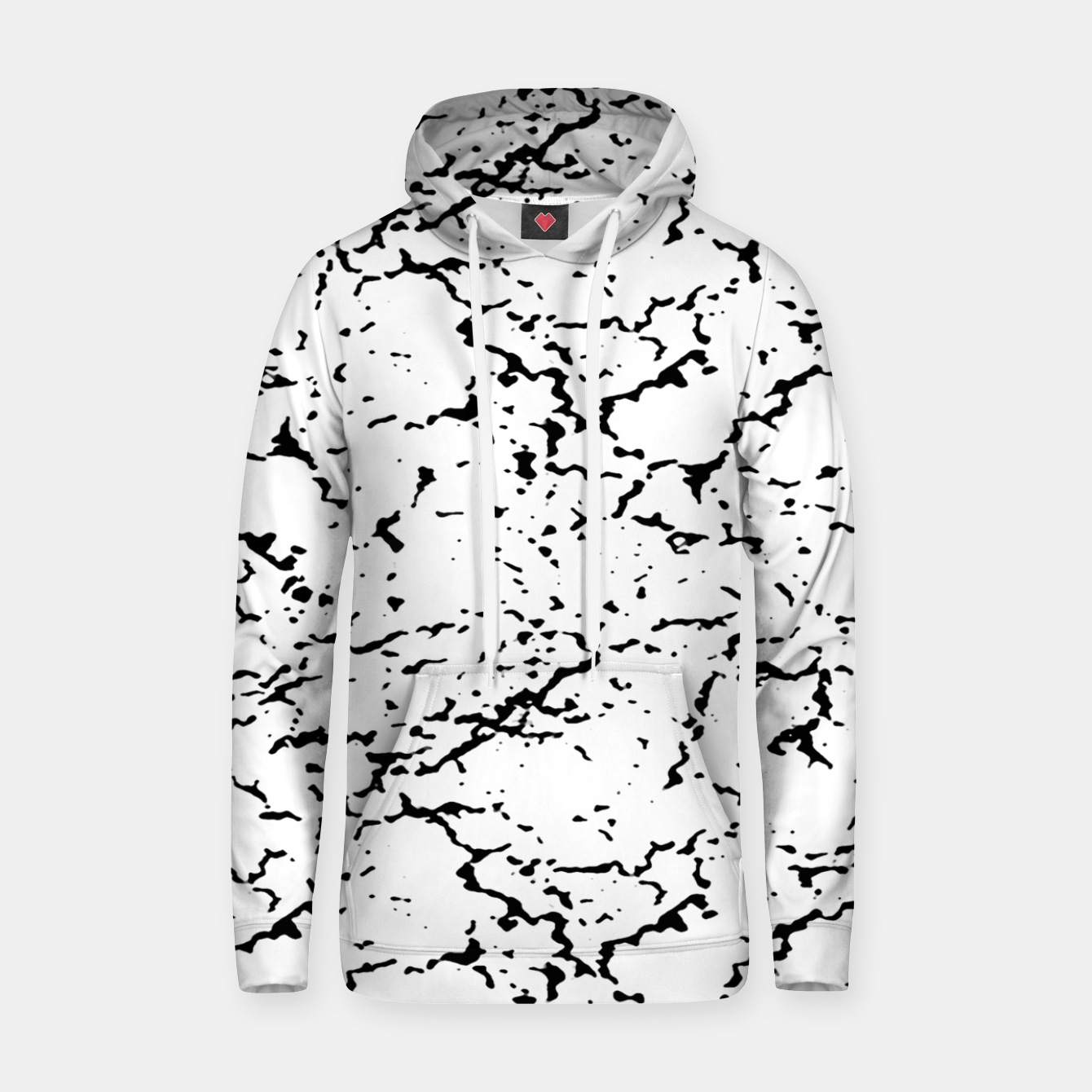 Image of Black and White Grunge Abstract Print Hoodie - Live Heroes