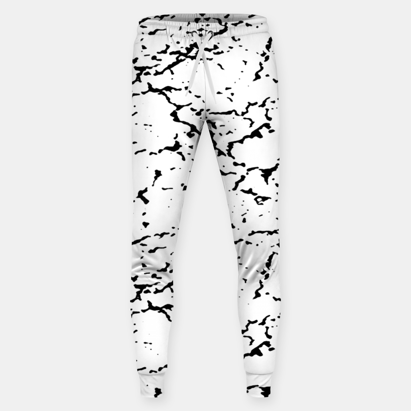 Image of Black and White Grunge Abstract Print Sweatpants - Live Heroes