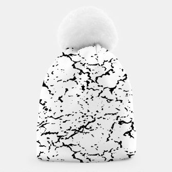 Black and White Grunge Abstract Print Beanie thumbnail image