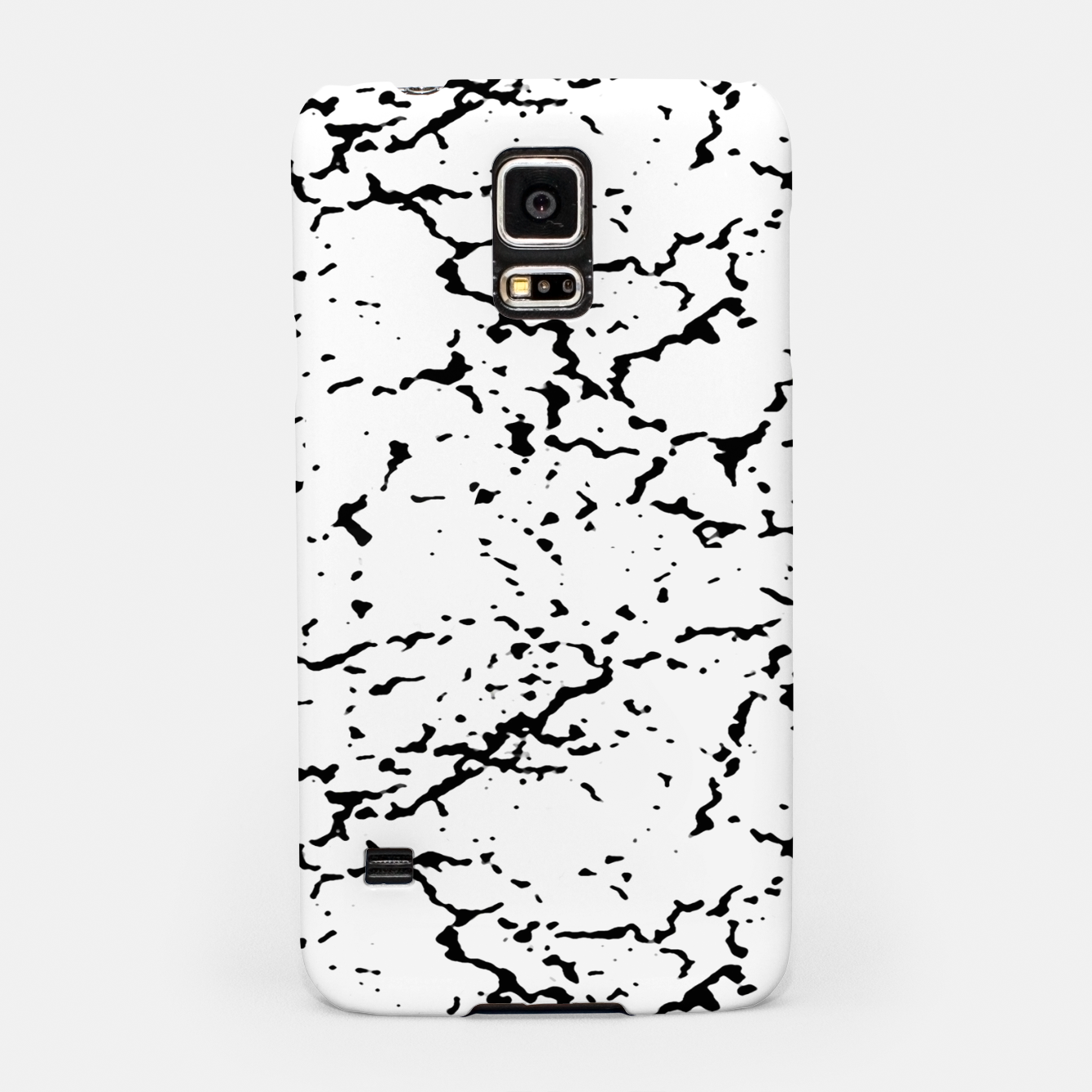 Image of Black and White Grunge Abstract Print Samsung Case - Live Heroes