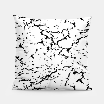 Black and White Grunge Abstract Print Pillow thumbnail image