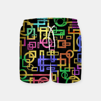 Thumbnail image of Abstract Geometric Layers Swim Shorts, Live Heroes