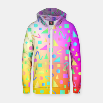 Thumbnail image of Cascade Geometric  Zip up hoodie, Live Heroes
