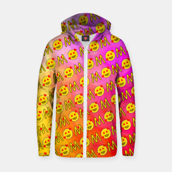 Thumbnail image of Mom Emoji Pattern Zip up hoodie, Live Heroes