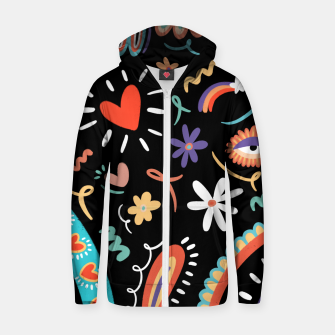Thumbnail image of Tribal meets boho Zip up hoodie, Live Heroes