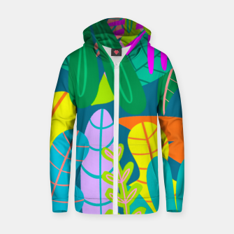 Thumbnail image of into the jungle Zip up hoodie, Live Heroes
