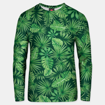Thumbnail image of Tropical Floral Botanical Jungle Leaf Plants Nature Pattern Unisex sweater, Live Heroes