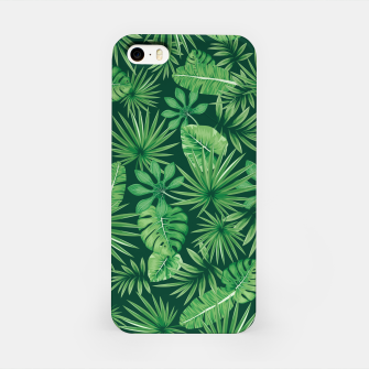 Thumbnail image of Tropical Floral Botanical Jungle Leaf Plants Nature Pattern iPhone Case, Live Heroes