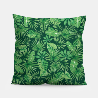 Thumbnail image of Tropical Floral Botanical Jungle Leaf Plants Nature Pattern Pillow, Live Heroes