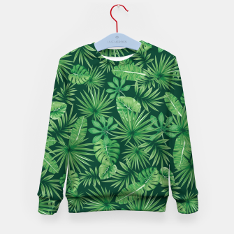 Thumbnail image of Tropical Floral Botanical Jungle Leaf Plants Nature Pattern Kid's sweater, Live Heroes