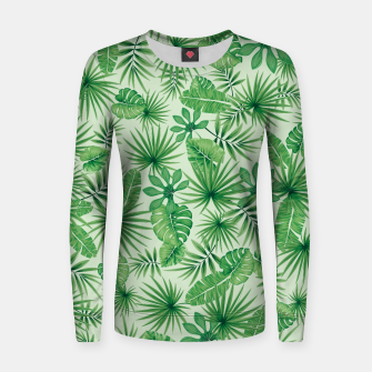 Thumbnail image of Tropical Floral Botanical Jungle Leaf Plants Nature Pattern Women sweater, Live Heroes