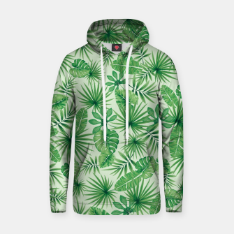 Thumbnail image of Tropical Floral Botanical Jungle Leaf Plants Nature Pattern Hoodie, Live Heroes
